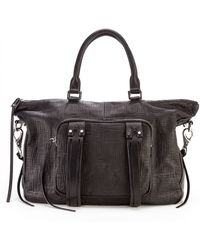 She + Lo - Next Chapter Perforated Leather Mini Satchel - Lyst