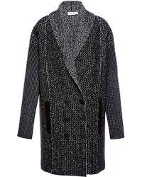 Sonia Rykiel Tweed Knit Coat - Lyst