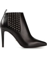 Sergio Rossi 'Placebo' Studded Booties - Lyst