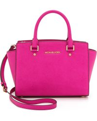 MICHAEL Michael Kors Medium Top Zip Satchel  - Lyst