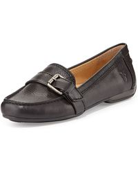Frye Janet Leather Buckle Loafer - Lyst