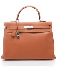Hermes Preowned Orange Togo Kelly 35 Cm Bag - Lyst