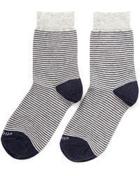 Etiquette - Thin Striped Cottonblend Socks - Lyst