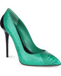 Alexander McQueen Hanau Ostrich Court Shoes - Lyst
