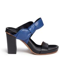 Chloé 'Cerro' Bow Tie Nappa Leather Sandals black - Lyst