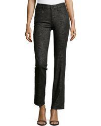 Nydj Marilyn Snakeprint Straightleg Jeans - Lyst
