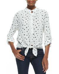 Dora Landa - Star-print Tie-front Tunic - Lyst