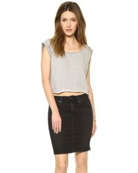 House Of Harlow Stone Top  Heather Grey - Lyst