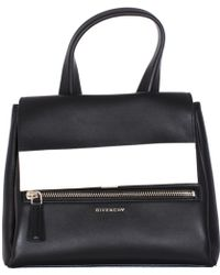 """Givenchy   Black And White Leather Small """"pandora Pure"""" Bag   Lyst"""