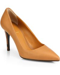 Fendi Leather Point-Toe Pumps - Lyst