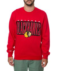 Mitchell & Ness The Chicago Blackhawks Sweatshirt - Lyst