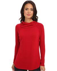 Karen Kane Funnel Neck Sweater - Lyst