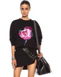 Christopher Kane Pink Peony Embroidered Sweatshirt - Lyst