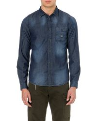 Diesel Slim-fit Denim Shirt - Lyst