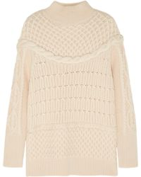 Temperley London Magdalena Cableknit Merino Wool Sweater - Lyst