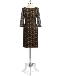 Anne Klein Lace Accented Sheath Dress - Lyst