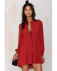 Nasty Gal | Jacqueline Shift Dress - Rust | Lyst