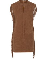 W118 by Walter Baker | Kira Fringed Suede Mini Dress | Lyst