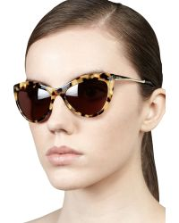 Miu Miu Large Cateye Sunglasses - Lyst