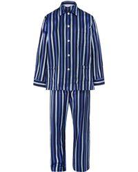 Derek Rose Blue Royal Stripe Pyjama Set - Lyst