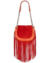 Ramy Brook - Camile Fringed Colorblock Suede & Leather Bag - Lyst