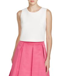 Eliza J - Sleeveless Crop Top - Lyst