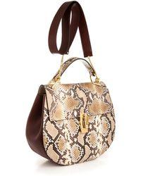 Chloé Drew Large Snakeskin Shoulder Bag - Lyst