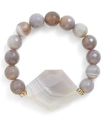 Sequin Beaded Stretch Bracelet - Lyst