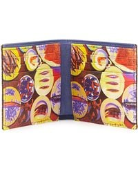 Etro - Paisley Printed Leather Wallet - Lyst