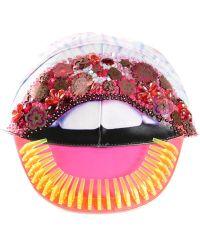 Manish Arora Embellished Lips Cap multicolor - Lyst