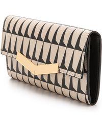 Time's Arrow - Print Chevron Wallet Bone Print - Lyst