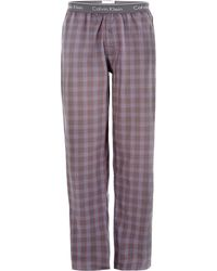 Calvin Klein Plaid Nightwear Pant - Lyst