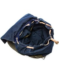Scotch & Soda | Denim and Leather Backpack | Lyst