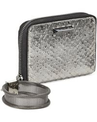 Elizabeth and James - Pyramid Silver Leather Wristlet Wallet - Lyst