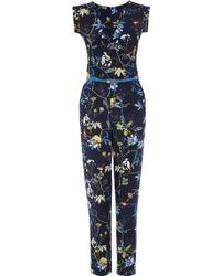 Oasis Midnight Bird Jumpsuit - Lyst