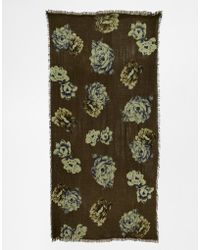 Esprit - Flower Blanket Scarf - Lyst