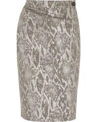 Vivienne Westwood Anglomania - Isolation Metallic Snake-jacquard Skirt - Lyst