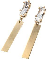 Noritamy - White Obi Set Earrings - Lyst