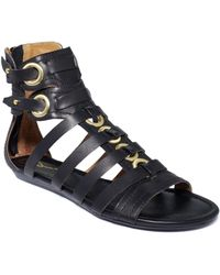 Report Signature Luckie Flat Gladiator Sandals - Lyst