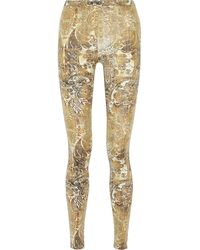 Just Cavalli Printed Stretchjersey Leggings - Lyst