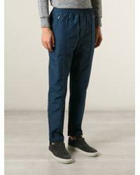 WOOD WOOD Blue Tapered Trackpants - Lyst