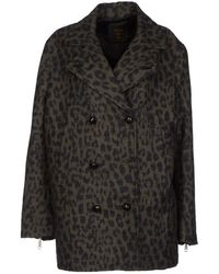 Diesel Black Gold Coat - Lyst