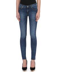 Victoria Beckham Skinny Midrise Jeans Agate - Lyst