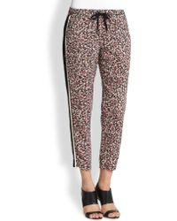Splendid Striped Side Floral Print Track Pants - Lyst