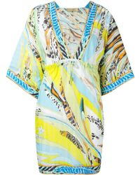 Emilio Pucci Printed Kaftan Dress - Lyst