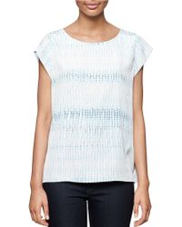 Calvin Klein Jeans Speckled Top blue - Lyst