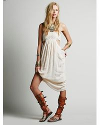 Free People Smocked Drape Dress - Lyst