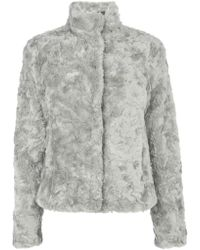 Oasis Short Twisty Faux Fur Coat - Lyst