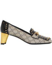 Christian louboutin Glitter Coated Textile Peep Toe Platform Pumps ...