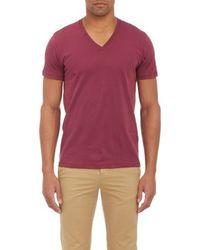 Barneys New York V-neck T-shirt - Lyst